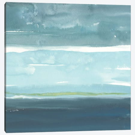Teal Horizon II Canvas Print #ROB17} by Rob Delamater Art Print