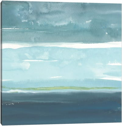 Teal Horizon II Canvas Art Print