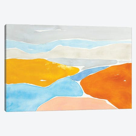 Luminous Coastline I Canvas Print #ROB182} by Rob Delamater Canvas Artwork