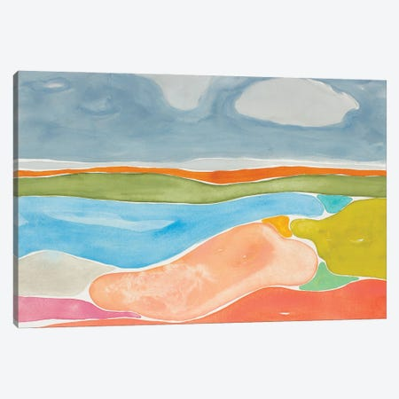 Luminous Coastline II Canvas Print #ROB183} by Rob Delamater Canvas Art
