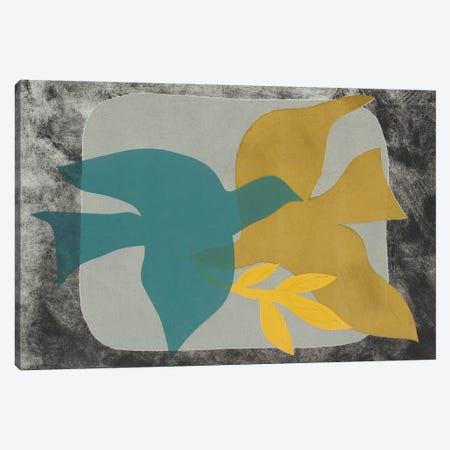 Dove Composition I Canvas Print #ROB197} by Rob Delamater Canvas Wall Art