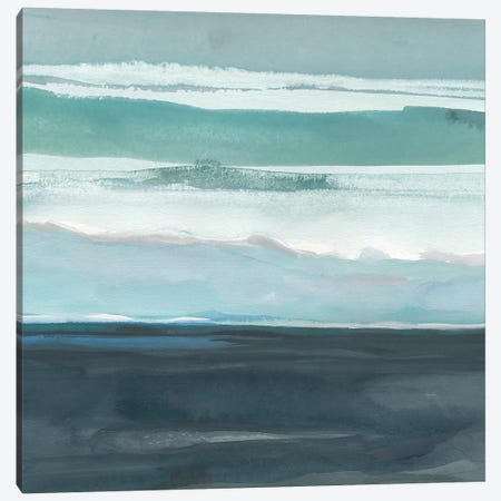 Teal Sea I Canvas Print #ROB38} by Rob Delamater Canvas Wall Art
