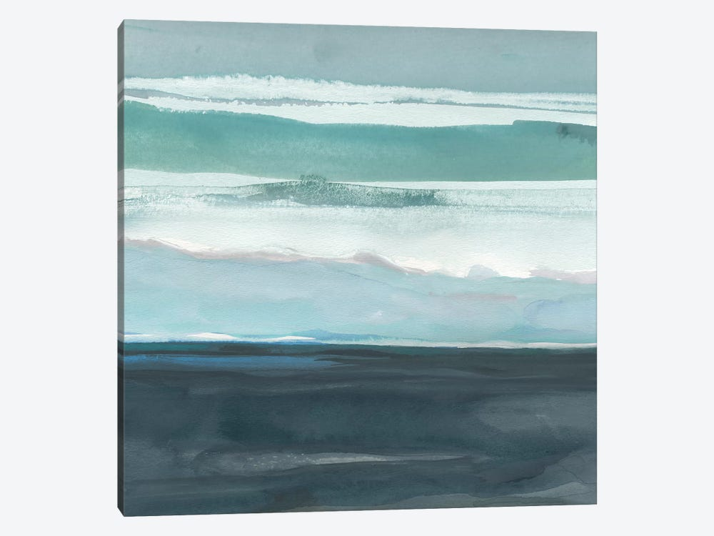 Teal Sea I by Rob Delamater 1-piece Canvas Art