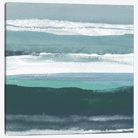 Teal Sea II Canvas Print #ROB39} by Rob Delamater Canvas Artwork