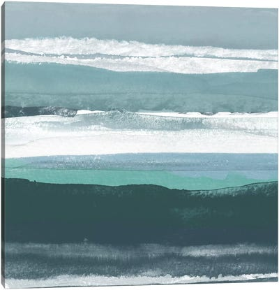 Teal Sea II Canvas Art Print