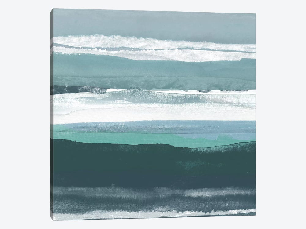 Teal Sea II by Rob Delamater 1-piece Canvas Print