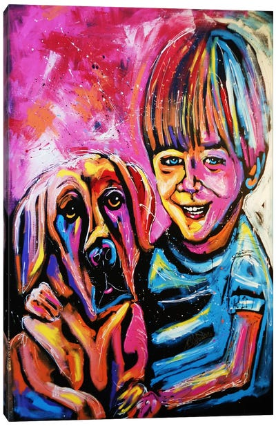 Demaio Fam Painting 001 Canvas Print #ROC12