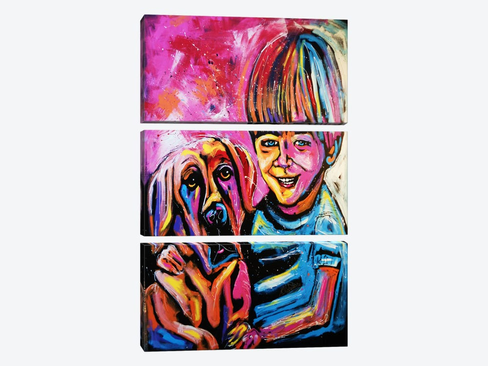 Demaio Fam Painting 001 by Rock Demarco 3-piece Canvas Print