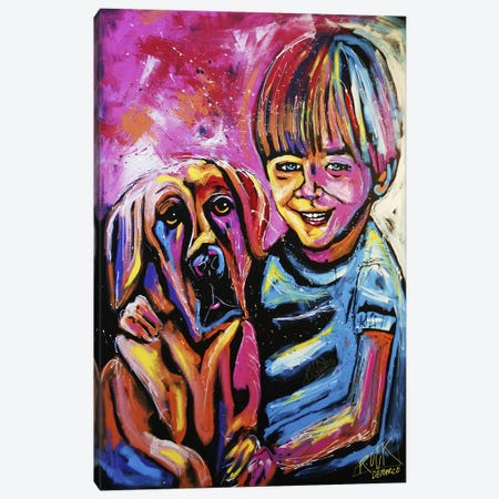 Demaio Fam Painting 001 with Signature Canvas Print #ROC12a} by Rock Demarco Canvas Print