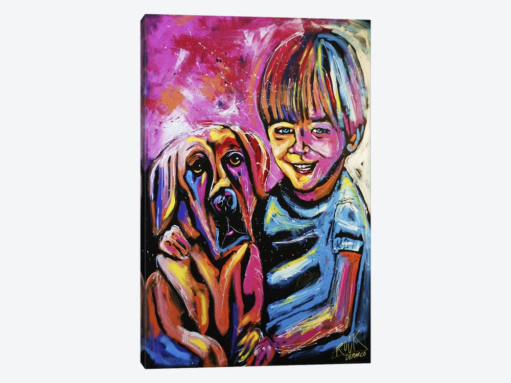 Demaio Fam Painting 001 with Signature by Rock Demarco 1-piece Canvas Art Print