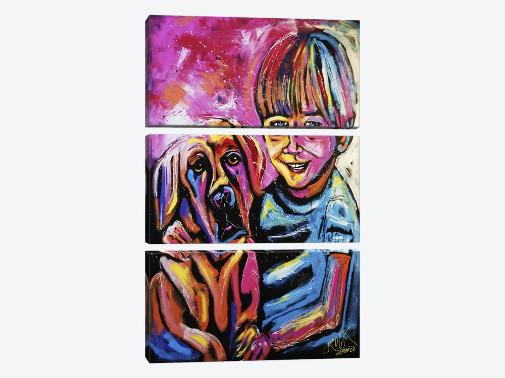 Demaio Fam Painting 001 with Signature by Rock Demarco 3-piece Canvas Art Print