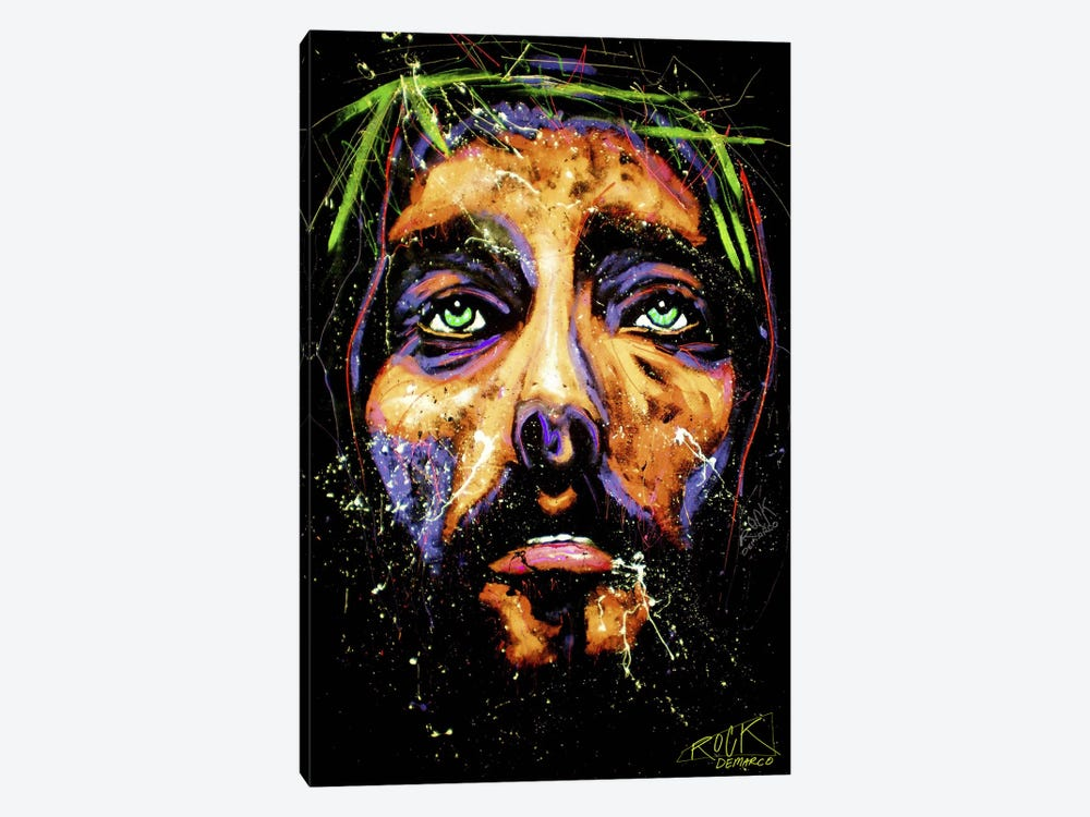 Jesus 001 with Signature by Rock Demarco 1-piece Canvas Artwork