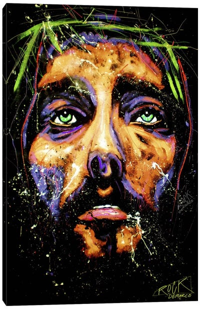 Jesus with Signature Canvas Art Print