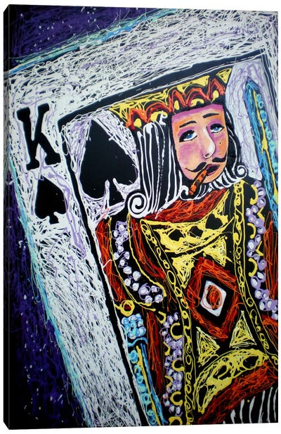 King Spades 001 Canvas Art Print