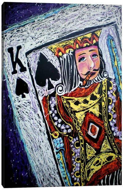 King Spades 001 Canvas Print #ROC29