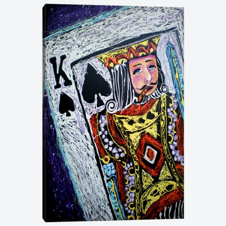 King Spades Canvas Print #ROC29} by Rock Demarco Canvas Wall Art