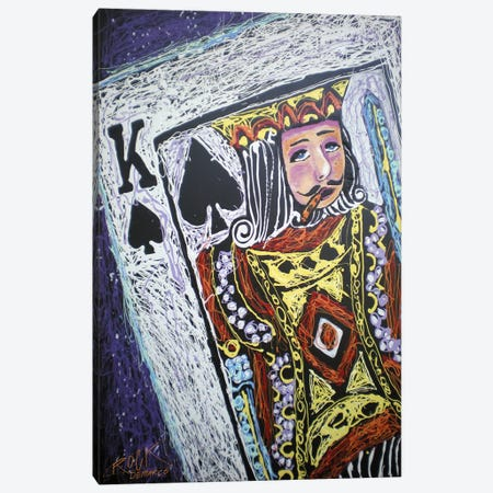 King Spades 001 with Signature Canvas Print #ROC29a} by Rock Demarco Art Print