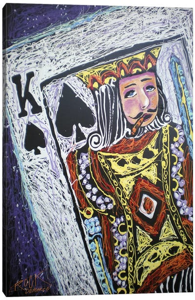 King Spades 001 with Signature Canvas Print #ROC29a