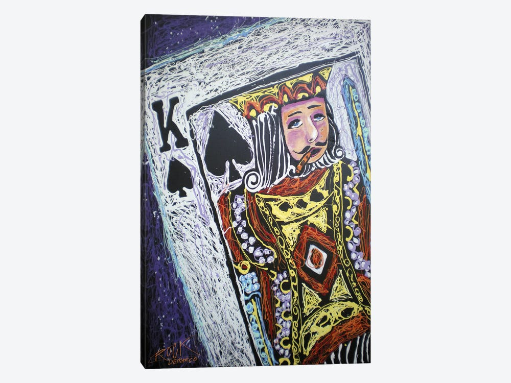King Spades 001 with Signature by Rock Demarco 1-piece Canvas Wall Art
