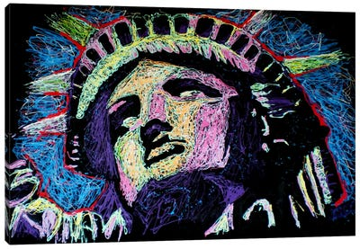 Liberty Drip Canvas Art Print