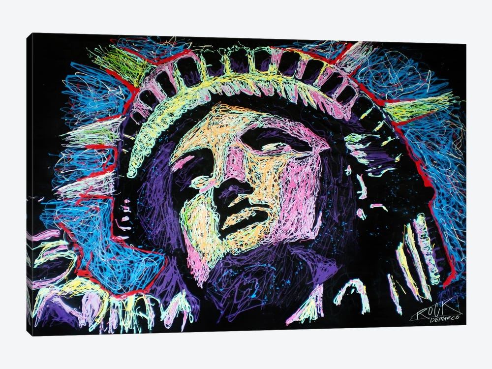 Liberty Drip 002 with Signature by Rock Demarco 1-piece Canvas Wall Art