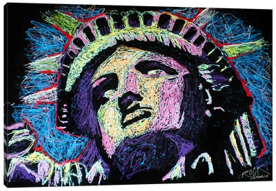 Liberty Drip with Signature Canvas Art Print