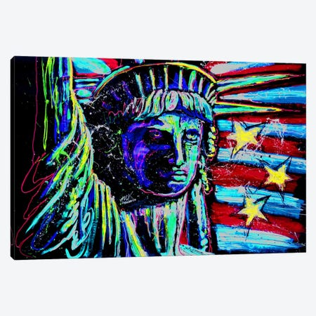 Liberty For Prints 001 Touched Canvas Print #ROC33} by Rock Demarco Art Print