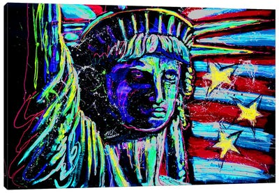 Liberty For Prints 001 Touched Canvas Print #ROC33