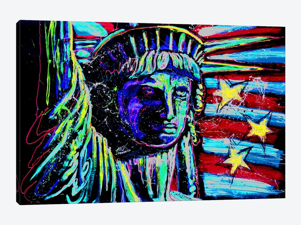 Liberty For Prints 001 Touched by Rock Demarco 1-piece Canvas Wall Art