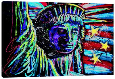 Liberty For Prints 001 Touched with Signature Canvas Print #ROC33a