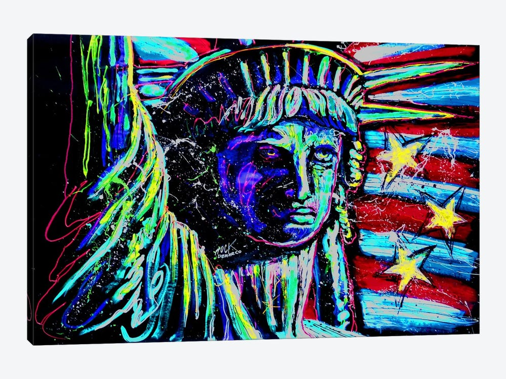 Liberty For Prints 001 Touched with Signature by Rock Demarco 1-piece Canvas Art Print