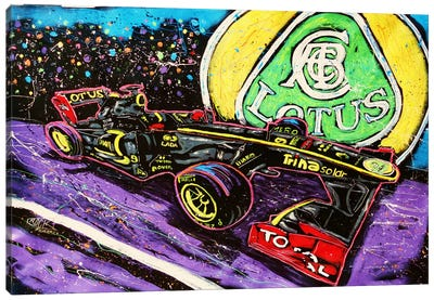 Lotus Race Car Canvas Art Print
