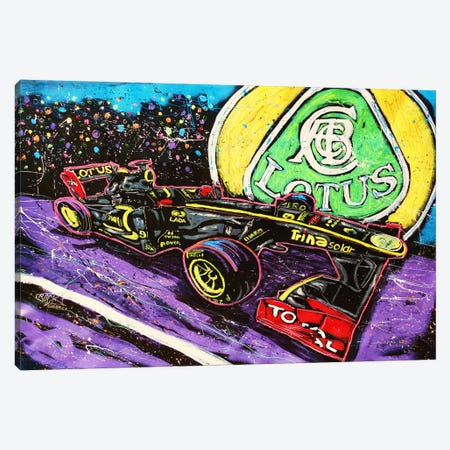 Lotus Race Car with Signature Canvas Print #ROC34a} by Rock Demarco Canvas Art Print