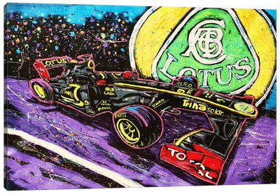 Lotus Race Car with Signature Canvas Art Print