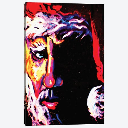 Santa Canvas Print #ROC46} by Rock Demarco Art Print