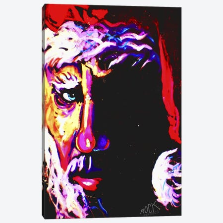 Santa with Signature Canvas Print #ROC46a} by Rock Demarco Canvas Artwork