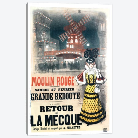 Moulin Rouge Grande Redoute Advertisement, 1897 Canvas Print #ROD1} by Auguste Roedel Canvas Art