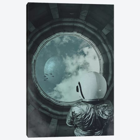 Bystander Canvas Print #ROH10} by Rob Hakemo Canvas Art