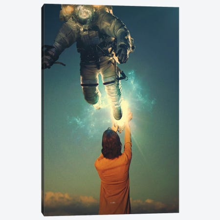 Let go of yesterday Canvas Print #ROH135} by Rob Hakemo Canvas Art