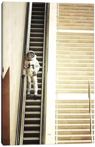 Escalator Canvas Art Print
