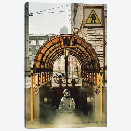 Astro subway Canvas Print #ROH48} by Rob Hakemo Canvas Art Print