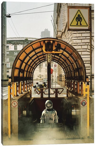Astro subway Canvas Art Print