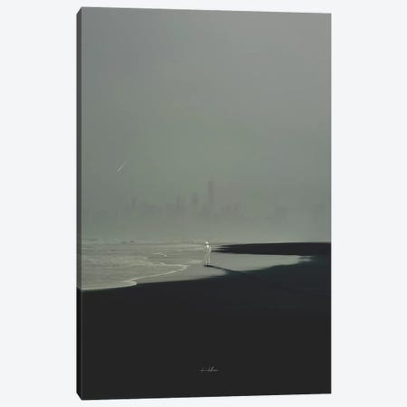 Deserted Shore Canvas Print #ROH78} by Rob Hakemo Canvas Artwork