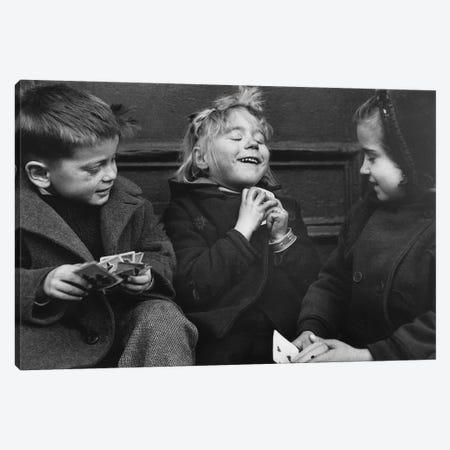 Card Players (NYC, 1955) Canvas Print #ROK11} by Ruth Orkin Canvas Art Print