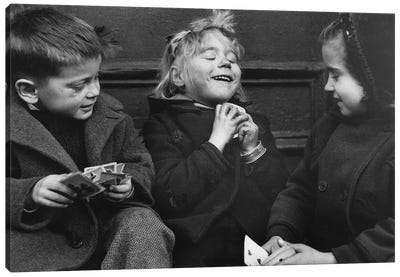 Card Players (NYC, 1955) Canvas Art Print