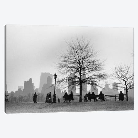 Central Park South Silhouette (NYC, 1955) Canvas Print #ROK12} by Ruth Orkin Canvas Print