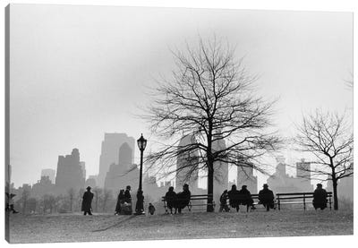 Central Park South Silhouette (NYC, 1955) Canvas Art Print