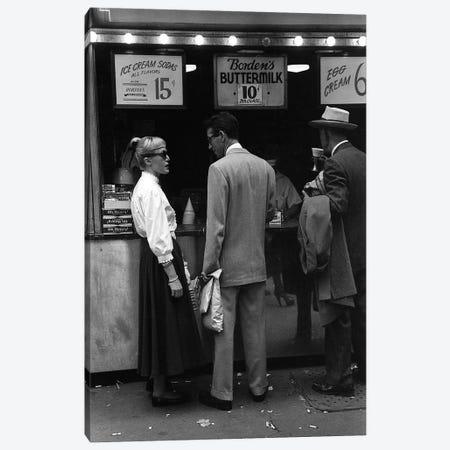 Charles James Story Ice Cream Sodas (NYC, 1949) Canvas Print #ROK13} by Ruth Orkin Canvas Art Print