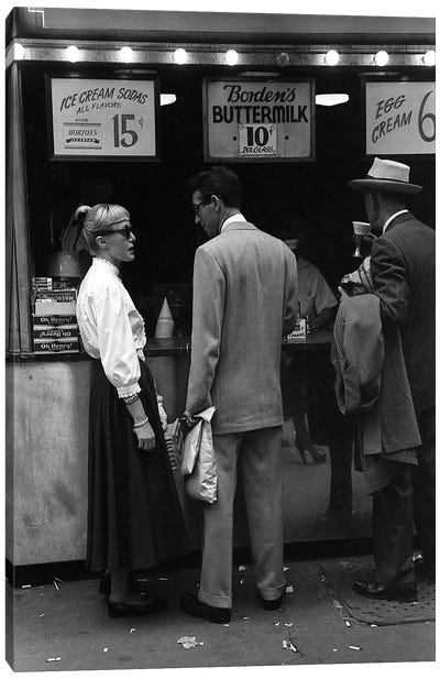 Charles James Story Ice Cream Sodas (NYC, 1949) Canvas Art Print