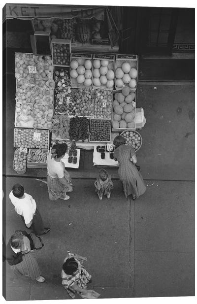 Fruit Stand Fromabove NYC 1948 Canvas Art Print